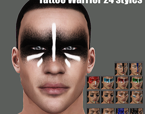 3D model Tattoo Warrior 24 styles