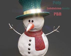 SnowMan - PBR Game-Ready 3D model