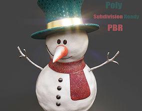 SnowMan - PBR Game-Ready 3D asset