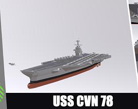3D asset USS CVN 78 GERALD FORD