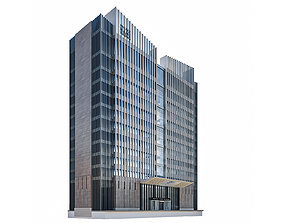 3D Modern Residential Building 25