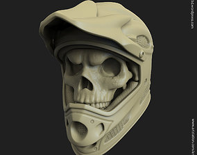 Biker helmet skull vol5 pendant 3D print model