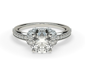 The Vintage And Royal Collection Diomand Ring 3D Print 1