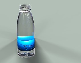 3D printable model water bottle 500ml with 38mm neck