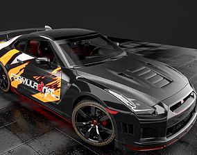 NISSAN GT- R RACE CAR 3D model