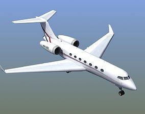 3D model low-poly G550 Executive Jet