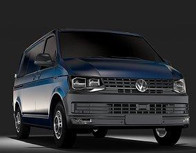 3D Volkswagen Transporter Van L1H1 T6 2017