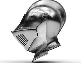3D Medieval Knight Armet Helmet 2