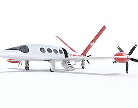 Medical Alice Eviation Electric Aircraft with Interior 3D