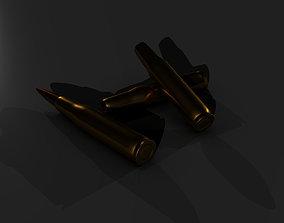 3D asset 50 Cal Bullet and Casing High Detail