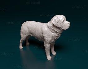 miniatures 3D print model Saint Bernard