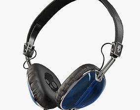 3D asset Skullcandy Navigator Royal Blue headphones