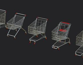 3D asset 5 shopping cart Dirty Pack
