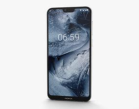 Nokia 6-1 Plus White 3D