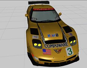 realtime 3d Chevrolet Corvette C5R 2000 3d model