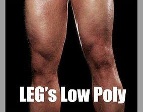 Legs Low Poly CG 3D asset