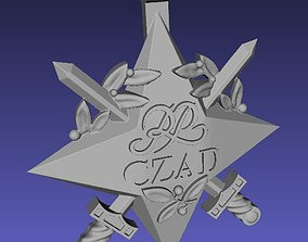Official Republic of Chad polish star 3D print model