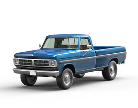 Pickup Truck 3D model low-poly low-poly