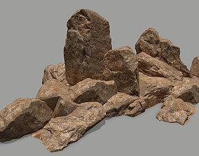 3D model realtime rocks mountain