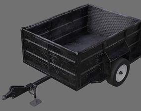 Utility Trailer 1B 3D asset