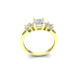 diamond-ring printable 3D print model wedding ring