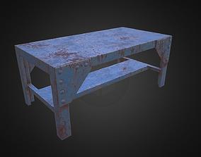 3D asset Metal Workbench