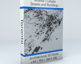 Toronto Streets and Buildings topology 3D model