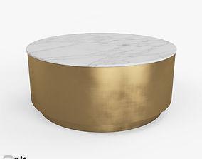 3D model Metal Drum Coffee Table by West Elm