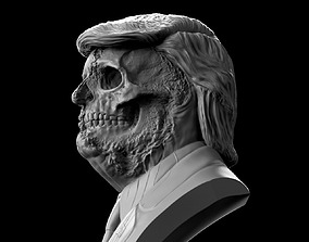 Donald Trump Skull Bust skull 3D printable model