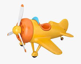 Cartoon plane 3D travel