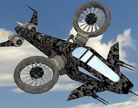 SciFi Copter 3D asset