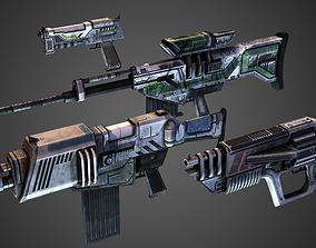 FPS Weapon Pack 3D model game-ready