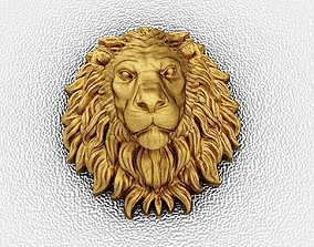 jewelry 3D print model The head of a lion