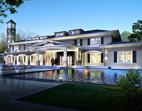 3D Elite Mansion with Swimming Pool