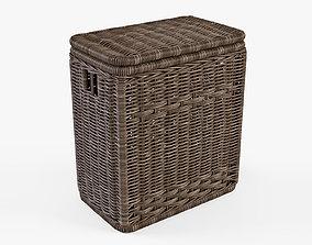 3D Wicker Laundry Hamper 8 Brown Color