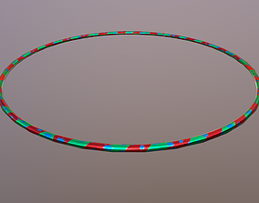 3D asset Hulahoop Metallic