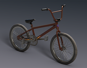 BMX bicycle 3D model rigged