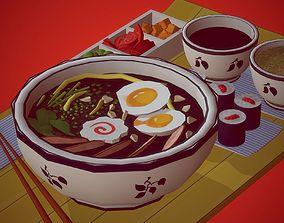 3D asset Udon Meal