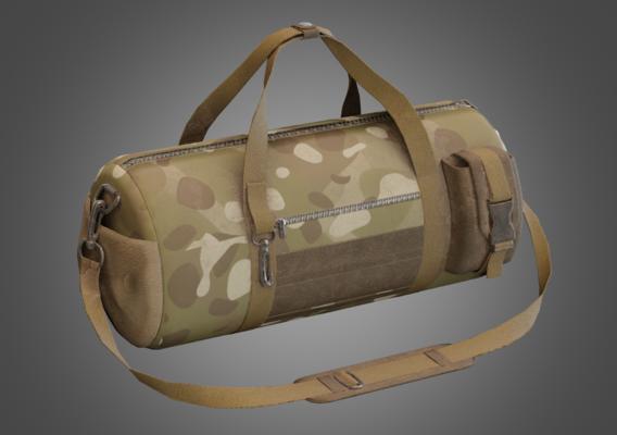 Soldier Sport Camuflage Bag Lowpoly Pbr