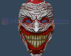 Clown Mask Joker Death Mask Cosplay 3D printable model 3