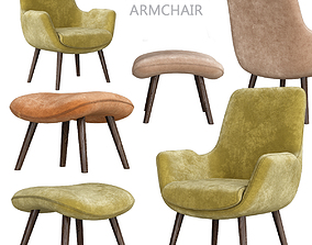 low-poly Moby Accent Armchair 3d model