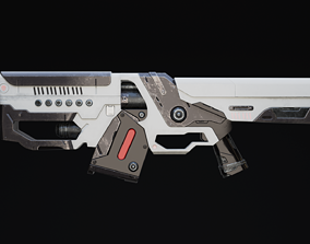 Thraxal Rifle Scifi Game Ready 3D model