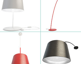 3D model Twiggy Lamps Collection Foscarini