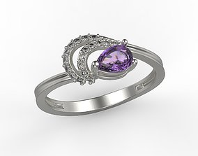 diamond-engagement-ring Women ring with gems 3dm stl