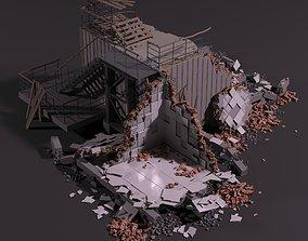 3D Ruins stone
