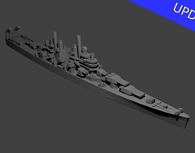 US Baltimore Class Cruiser Warship 3D print model