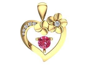 heart pendal 3D print model