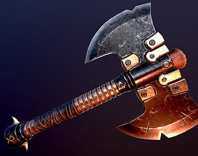 Battle Axe 3D asset realtime PBR