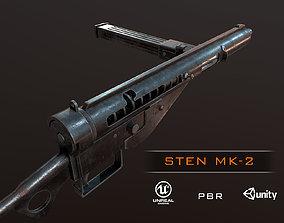 STEN Mk2 ww2 british smg pbr 3D model