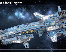 3D model Spaceship Frigate Predator
